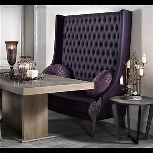 Upholstered, High, Back, Bench