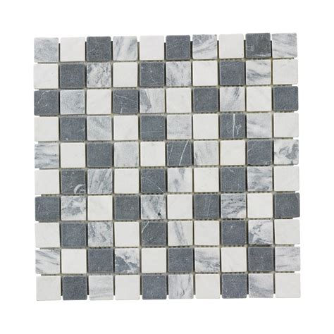 Jeffrey Court Mosaic Tile Home Depot by Jeffrey Court Carrara Mix 12 In X 12 In X 8 Mm Marble