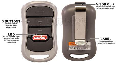 genie garage door opener remote genie g3t bx intellicode 3 button garage door opener remote