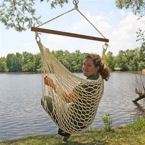 Hammock Swing by White Cotton Rope Swing Hammock Hanging Outdoor Chair