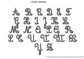 Alphabet Majuscule A Colorier
