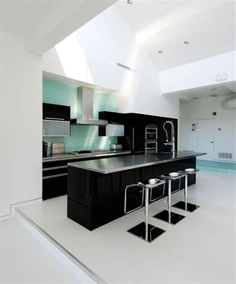 slate backsplash tiles for kitchen design idea of black and white kitchen midcityeast