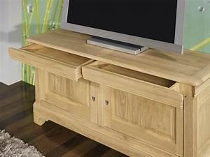 Meuble Tv En Chene : meuble tv 16 9 me en ch ne massif de style louis philippe finition ch ne bross naturel meuble ~ Teatrodelosmanantiales.com Idées de Décoration