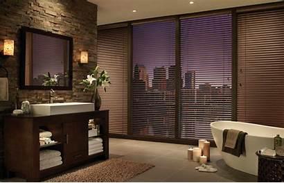Blinds Horizontal Bathroom Wood Modern Douglas Hunter