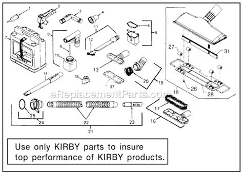Kirby Sentria Parts List Diagram Ereplacementparts