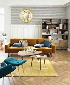 Canapé Jaune Maison Du Monde : fauteuils et canap s en velours s lection c t maison ~ Teatrodelosmanantiales.com Idées de Décoration