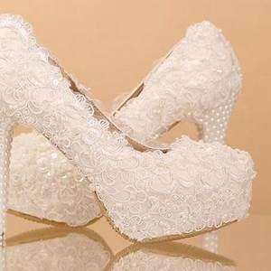 chaussure mariage blanc dentelle et perles ch055 With magasin de robe de mariée avec bijoux homme argent