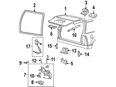Ford Explorer Liftgate Parts Diagram Auto