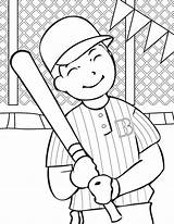 Cricket Coloring Pages Player Sport Printable Baseball Colouring Getcoloringpages Bat sketch template
