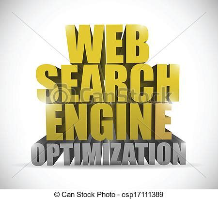 Web Search Engine Optimization - vector of web search engine optimization sign illustration