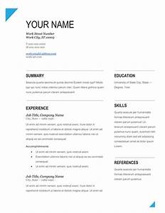 Latest Cv Format 2013 Free Download A Touch Of Creativity Free Resume Templates To Download