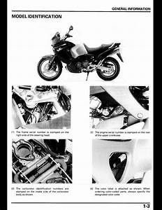 1998 Honda Xl1000v Varadero Motocycle Service Repair