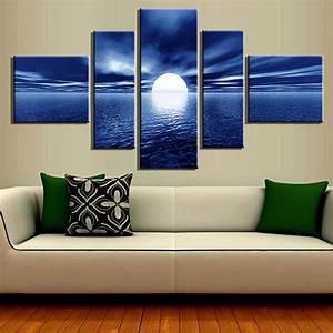 Achetez en Gros bleu peinture moderne en Ligne à des