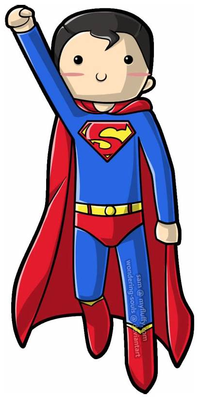 Superman Clipart Drawing Super Wondering Kid Deviantart