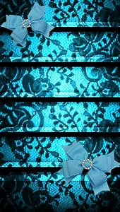 Teal Lace Wallpaper