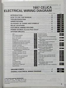 1997 Toyota Celica Electrical Wiring Diagram Manual Us