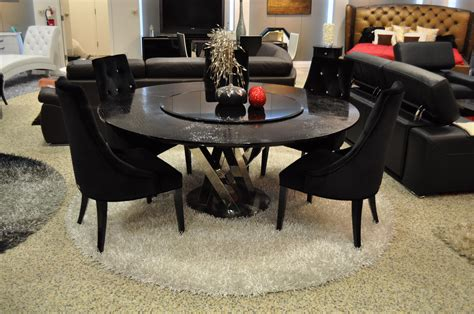 modern black dining table and chairs deluxe black round marble dining table and leather