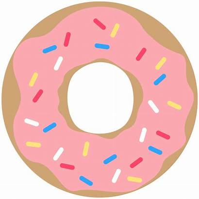 Donut Printable Clipart Pink Banner Party Sprinkles