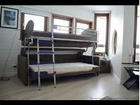 bunk bed couch Bonbon FLIP sofa bunk bed - YouTube