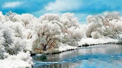 Winter Wallpapers Snow Desktop Stream Infrared Backgrounds