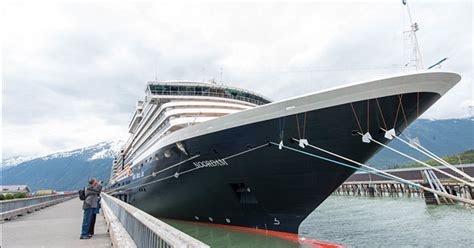 holland america ship alters port calls due to mechanical issue