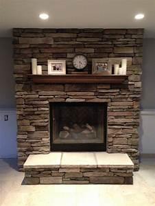Fireplace, Mantel, Brick