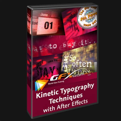 video2brain kinetic typography techniques with after effects english gfxdomain blog