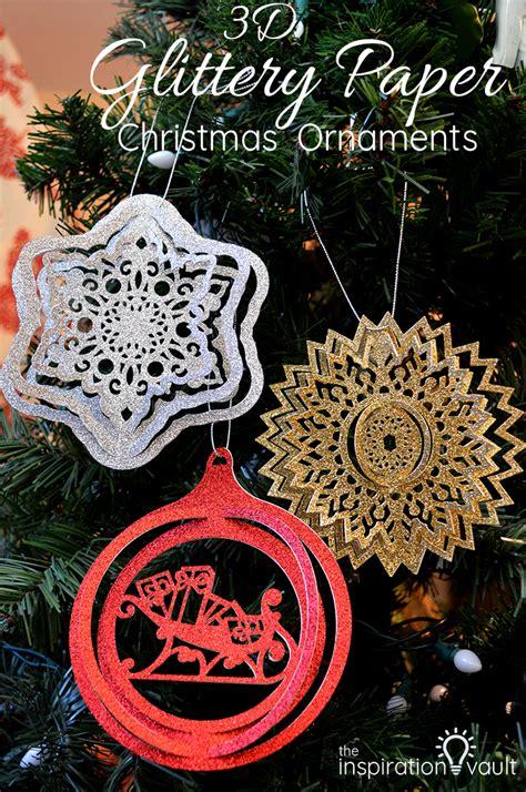 glittery paper christmas ornaments  inspiration vault