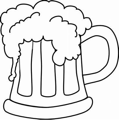Beer Mug Clip Outlined Clker Vector Clipart