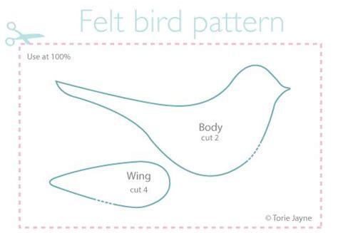 felt bird pattern   felt birds felt birds