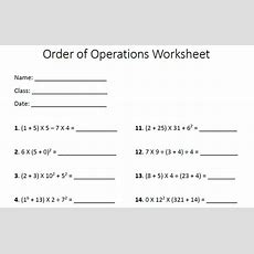 5 Order Of Operations Worksheet Options  Templates Assistant