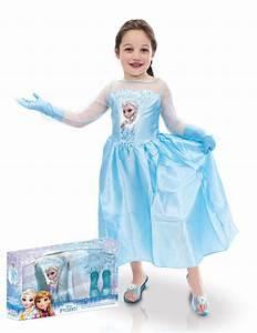 Elsa Frozen Kostmset Mit Schuhen Und Handschuhen