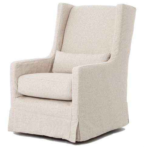 Modern Chair Slipcovers Wilshire Modern Slipcover Linen Swivel Arm Chair