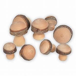 Deko Aus Holz : deko holz pilz set mit rindenrand g nstig online bestellen ~ Orissabook.com Haus und Dekorationen