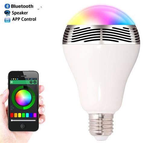 speaker bluetooth e27 led rgb light bulb l color