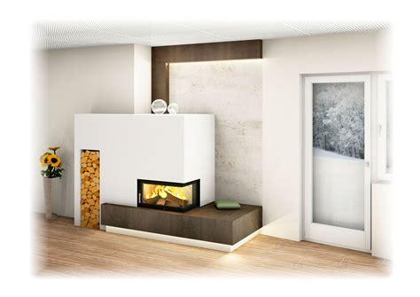 Moderne Häuser Mit Eckfenster by Moderner Kachelofen Mit Eckfenster Indirekter Beleuchtung
