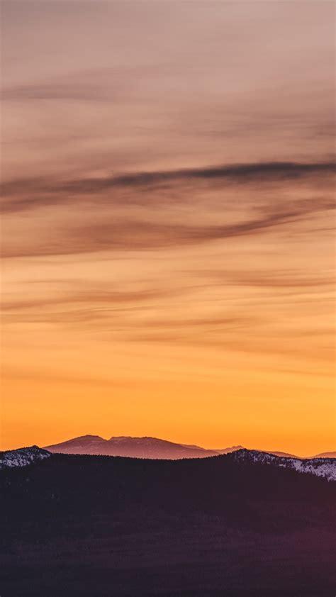 Orange Sky Wallpaper Iphone by Wallpaper Mountains Orange Sky Sunset 3840x2160 Uhd 4k