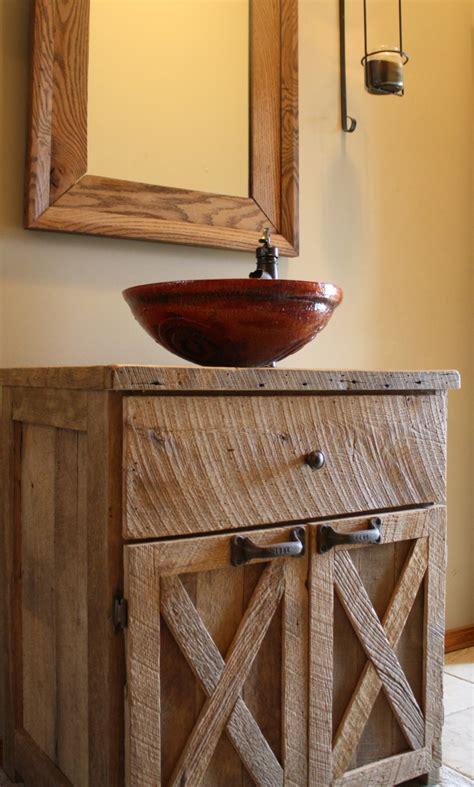 barn wood bathroom your custom rustic barn wood vanity or cabinet with 2 barn