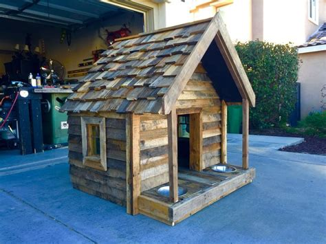 pallet dog house ideas  pinterest diy dog houses dog house  pallets