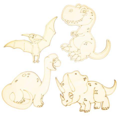 AmazonSmile: Bright Creations Wood Dinosaur Cutouts for ...
