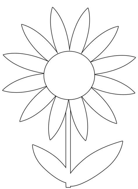 spring flower printable coloring image clip art