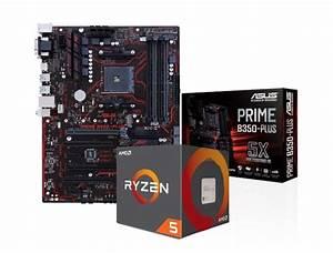 Asus Prime B350-plus Motherboard With Ryzen 5 1600 Processor Bundle