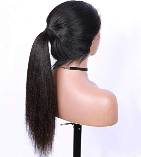 Straight Synthetic Lace Front Wigs Bleach Knots Pre