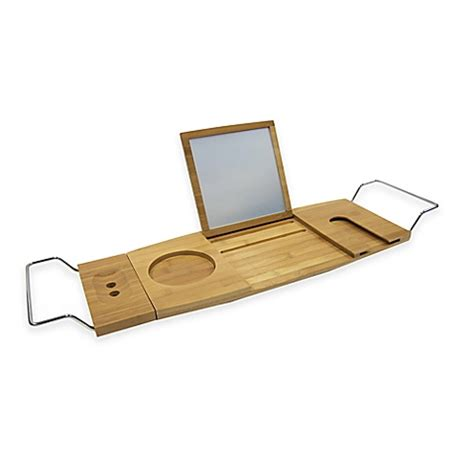 bamboo bathtub caddy bed bath beyond buy excell bamboo tub caddy from bed bath beyond