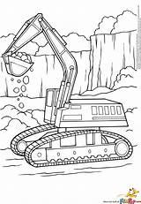 Coloring Excavator Pages Printable Digger Colouring Construction Truck Bulldozer Excavators Boyama Sayfaları Trucks Tractor Shuttle Alphabet Sheets Printables Equipment Farm sketch template
