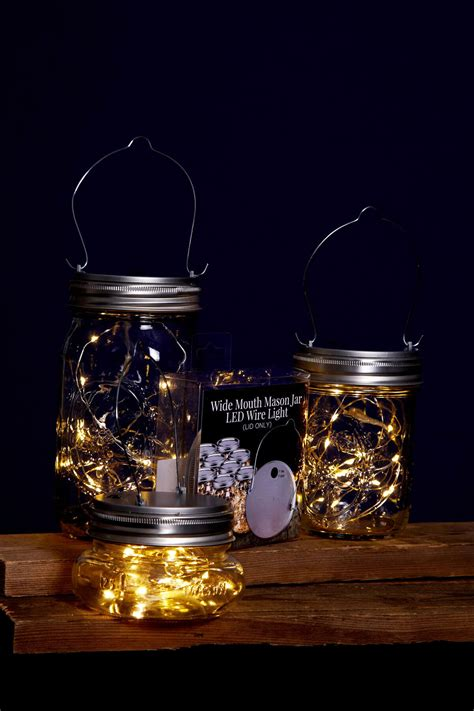 mason jar lights fairy lights battery op warm white fits