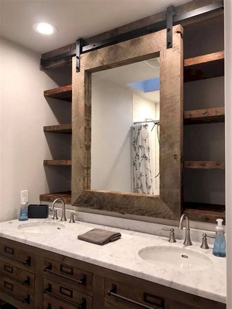 Bathroom Mirror Remodel by 127 Rustic Farmhouse Bathroom Remodel Ideas In 2019