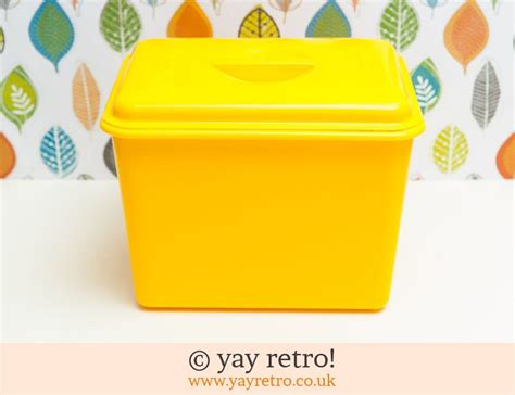 Vintage Plastic Yellow Bread Bin-vintage Shop, Retro