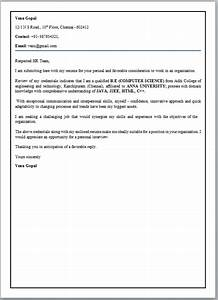 cover letter format for freshers With cover letter for fresher electronics engineer
