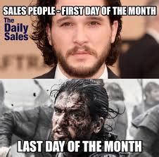 1st Of The Month Meme - every salesperson at the end of the month social talent